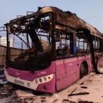 İETT otobüsü yanarak kullanılamaz hale geldi