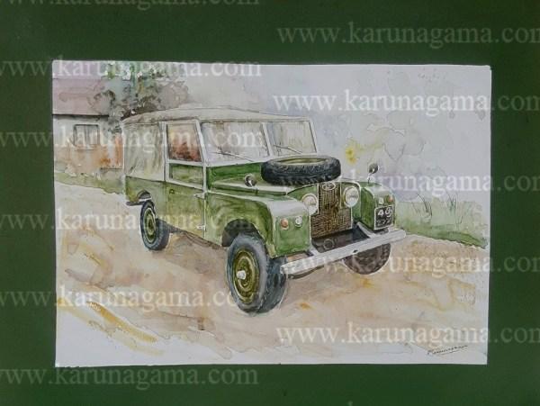 Online, Art, Art Gallery, Online Art Galley, Sri Lanka, Karunagama, Watercolor, Water Colour, Online, Art, Art Gallery, Online Art Galley, Sri Lanka, Karunagama, Watercolor, Water Colour, Land Rover, Land Rover Jeep, Jeep Paintigs, Classic Jeeps, , Sri lanka paintings,