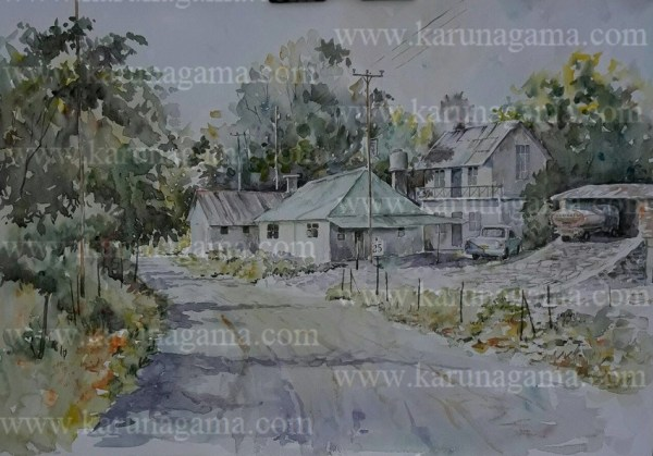 Online, Art, Art Gallery, Online Art Galley, Sri Lanka, Karunagama, Watercolor, Water Colour, Western country Scenery, Western Landscape, Landscape paintings, Water Colors, Paintings, Sri Lanka, Online Arts, Art Gallery, Sarath Karunagama, Online Art Gallery, Portrait, Landscape, Residence, Farmland,, Sri lanka paintings,