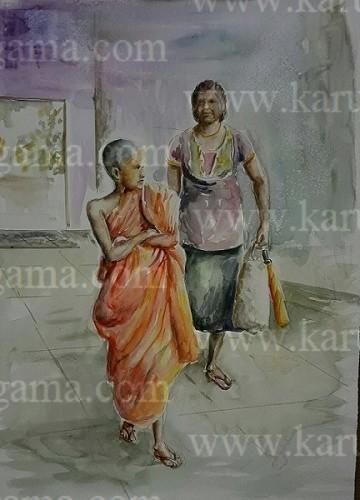 Online, Art, Art Gallery, Online Art Galley, Sri Lanka, Kandy Karunagama, Watercolor, Water Colour, Sarath Karunagama, Portrait, Landscape, Buddhist Monk, Monk Paintings, Sri Lanka Buddhist Monk, Buddhist Monk, Sri Lanka People, Buddhist Monk Paintings, Sri lanka paintings,
