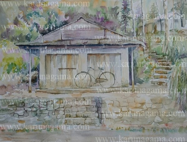Online, Art, Art Gallery, Online Art Galley, Sri Lanka, Karunagama, Watercolor, Water Colour, Kotmale, Kotmale paintigns, Closed shop, Shop in a village, Bike, Water Colors, Paintings, Sri Lanka, Online Arts, Art Gallery, Sarath Karunagama, Online Art Gallery, Portrait, Landscape, Bike, Shop, Sri lanka paintings,