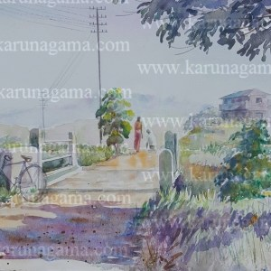 Online, Art, Art Gallery, Online Art Galley, Sri Lanka, Karunagama, Bike, Bike paintings, Sri lanka Bikes, Watercolor, Water Colour, Water Colors, Paintings, Sri Lanka, Online Arts, Art Gallery, Sarath Karunagama, Online Art Gallery, Portrait, Landscape, Bike, Culvert, Sri lanka paintings,