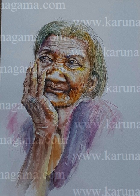 Online, Art, Art Gallery, Online Art Galley, Sri Lanka, Karunagama, Watercolor, Water Colour, Old People, Old People Paintings, Watercolor Portraits, Portrait Paintings, Water Colors, Paintings, Sri Lanka, Online Arts, Art Gallery, Sarath Karunagama, Online Art Gallery, Portrait, Sri lanka paintings,
