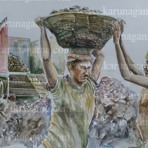 Online, Art, Art Gallery, Online Art Galley, Sri Lanka, Karunagama, Watercolor, Water Colour, Online Art Galley, Sri Lanka, KarunagMetal loading, Metal industry, People, Sri lanka paintings,