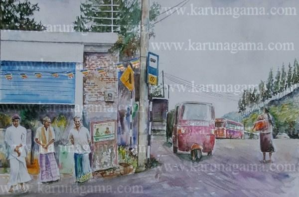 Online, Art, Art Gallery, Online Art Galley, Sri Lanka, Karunagama, Watercolor, Water Colour, Sarath Karunagama, Mountains, Hunnasgiriya, Sri lanka paintings,