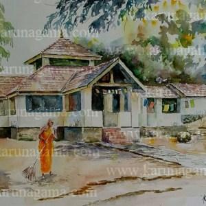 Online, Art, Art Gallery, Online Art Galley, Sri Lanka, Karunagama, Watercolor, Water Colour, Buddha Statue, Temples in Sri lanka, Statues, Statues in Sri lanka, Buddha, Sri lanka paintings,