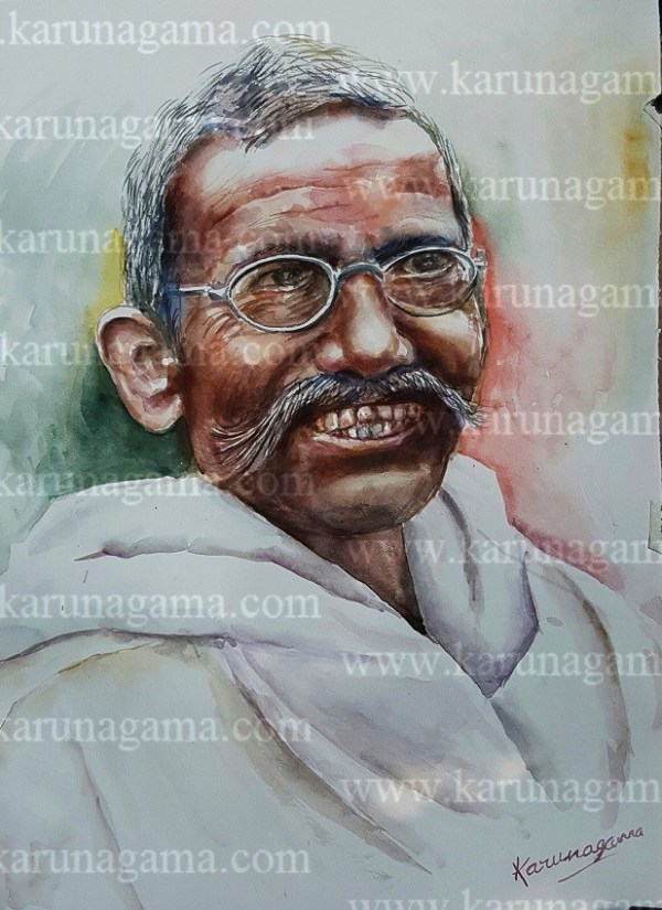 Online, Art, Art Gallery, Online Art Galley, Sri Lanka, Karunagama, Watercolor, Water Colour, Sarath Karunagama, Devotee, Brahimn, , Old person paintings, Old people, Portrait of Indian Devotee, Old Indians, Sri lanka paintings,