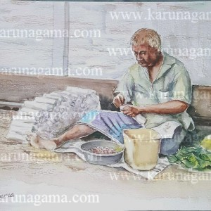 Art, Art Gallery, Indian old man paintings, Karunagama, Old man Paintings, Online, Online Art Galley, People, Sri Lanka, Sri lanka Old People, Sri lanka Paintings, Sri lankan Portraits. Sri lanka watercolor paintings, Water Colour, Watercolor