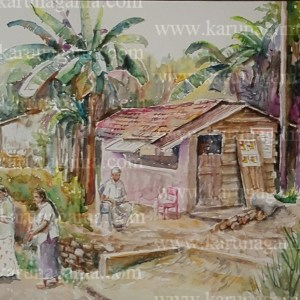 Art, Art Gallery, Paintings, Karunagama, Landscapes, Sri lanka Women, Houses paintings, Sri lanka villages, People in Sri lanka,