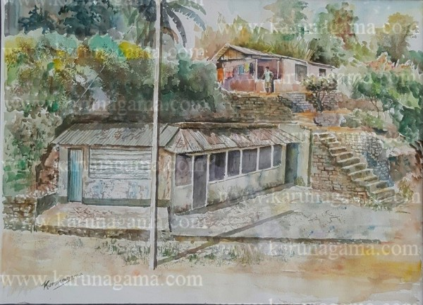 Online, Art, Art Gallery, Online Art Galley, Sri Lanka, Karunagama, Watercolor, Water Colour, Water falls, Kadiyanlena, Kataboola, Nawalapitiya, Landscapes, Sri lanka landscapes, Sri lanka landscape paintings, Villages, Sri lanka villages,