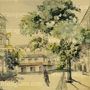 Online, Art, Art Gallery, Online Art Galley, Sri Lanka, Karunagama, Watercolor, Water Colour, Landscapes, Kandy landscapes, Streets in Kandy, Dalada veediya,