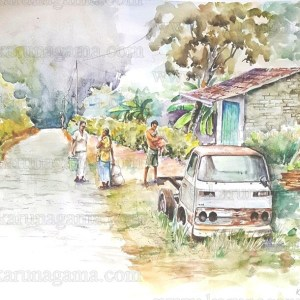 Art, Art Gallery, Austin Cambridge, Classic car Paintings, Classic cars, Karunagama, Nuwaraeliya, Nuwaraeliya paintings., Online, Online Art Galley, Plantaions, Sri Lanka, Water Colour, Watercolor, Vehicles, Vintage vehicles, Vehicles in rust, Mitsubhishi, Pick up truck,