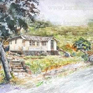 Art, Art Gallery, Trekkiing in Sri lanka, Ceylon, Meemre, Sceneries in Sri lanka, Hunnasgiriya, Karunagama, Landscapes, Landscapes in Sri lanka, Old Sri lanka, Online, Online Art Gallery, Sri Lanka, Water Colour, Watercolor