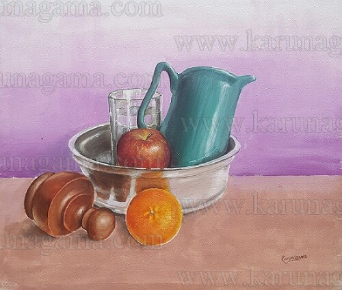Art, Art Gallery, Paintings of still life, Still life, Karunagama, Online, Online Art Galley, Paintings of , Water Colour, Watercolor, Sri Lanka, Sri lanka Paintings, Srilanka Railways