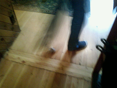 Photo title: Socks on a Wooden Floor