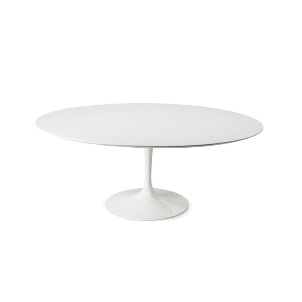 table tulipe ronde de diam 127 cm de diam 180 cm avec plateau en stratifie liquide ou en marbre disponible en differentes fini