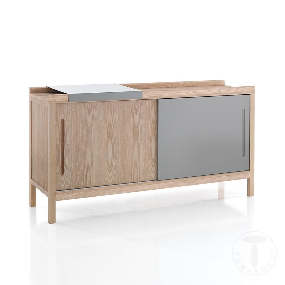 buffet ou meuble tv kora de tomasucci entierement en bois mdf avec plateau coulissant en metal
