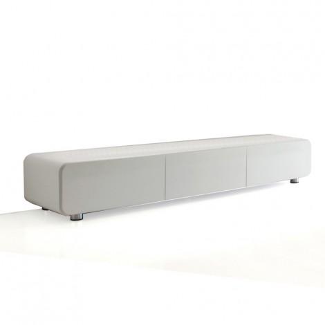 plano tv stand sideboard aus glanzend weiss lackiertem mdf holz mit polyestertechnik
