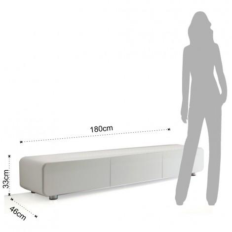 buffet meuble tv plano en bois mdf laque blanc brillant avec technique polyester