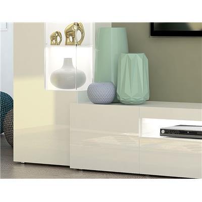ensemble meuble tv blanc laque et effet beton design blandine 2