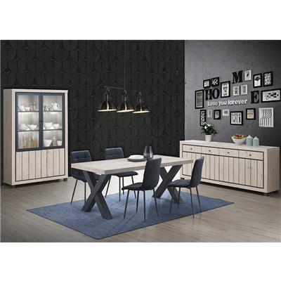 salle a manger complete avec 4 chaises couleur bois naturel euphoria