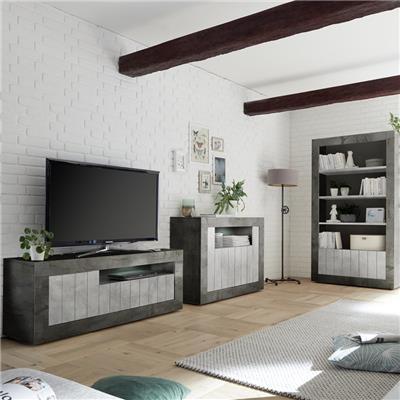 meuble tv moderne gris effet beton mabel 8