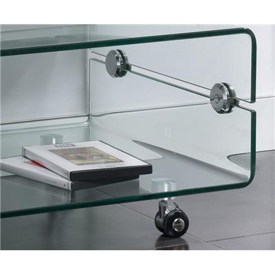 meuble tv en verre transparent design candy