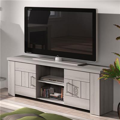 meuble tv 145 cm contemporain couleur bois clair opaline