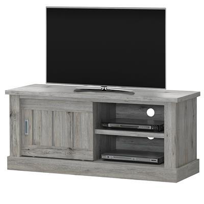 banc tv 130 cm couleur chene rustique edina
