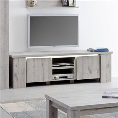 meuble tv contemporain couleur chene gris nicolas 2