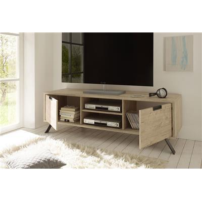 meuble tv couleur bois contemporain plume