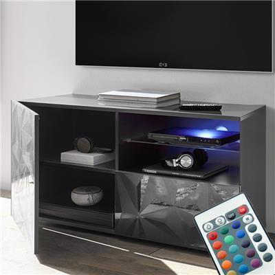 banc tv led 120 cm gris laque design nino 2
