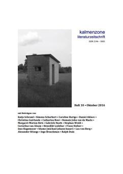 Kalmenzone 10/2016