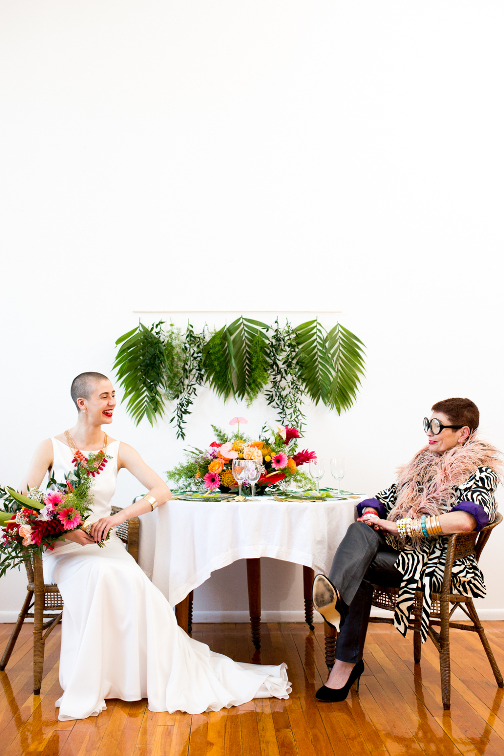 DARE TO BE DIFFERENT IRIS APFEL INSPIRED BRIDAL