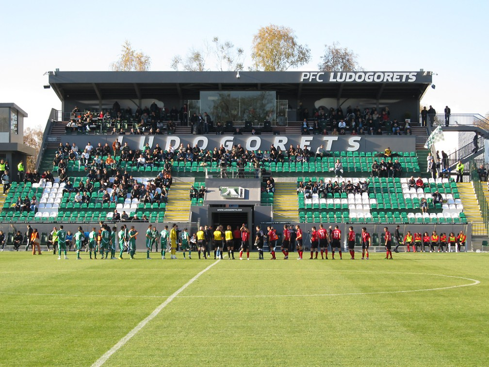 Ludogorets Arena in Razgrad, the club's home stadium