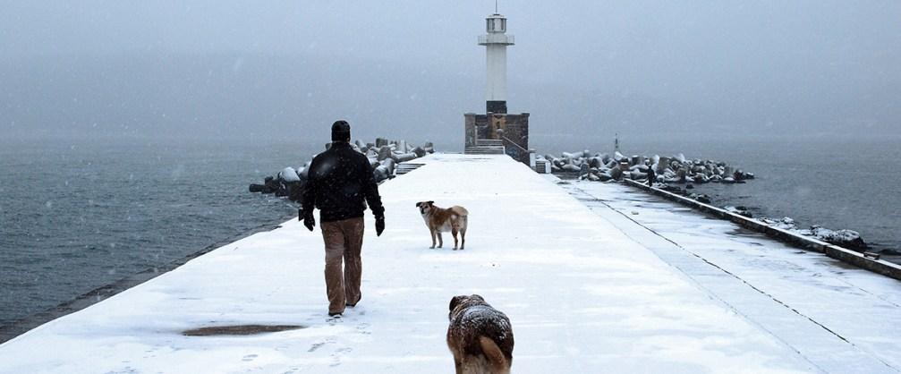 The Bulgarian Black Sea coast in winter