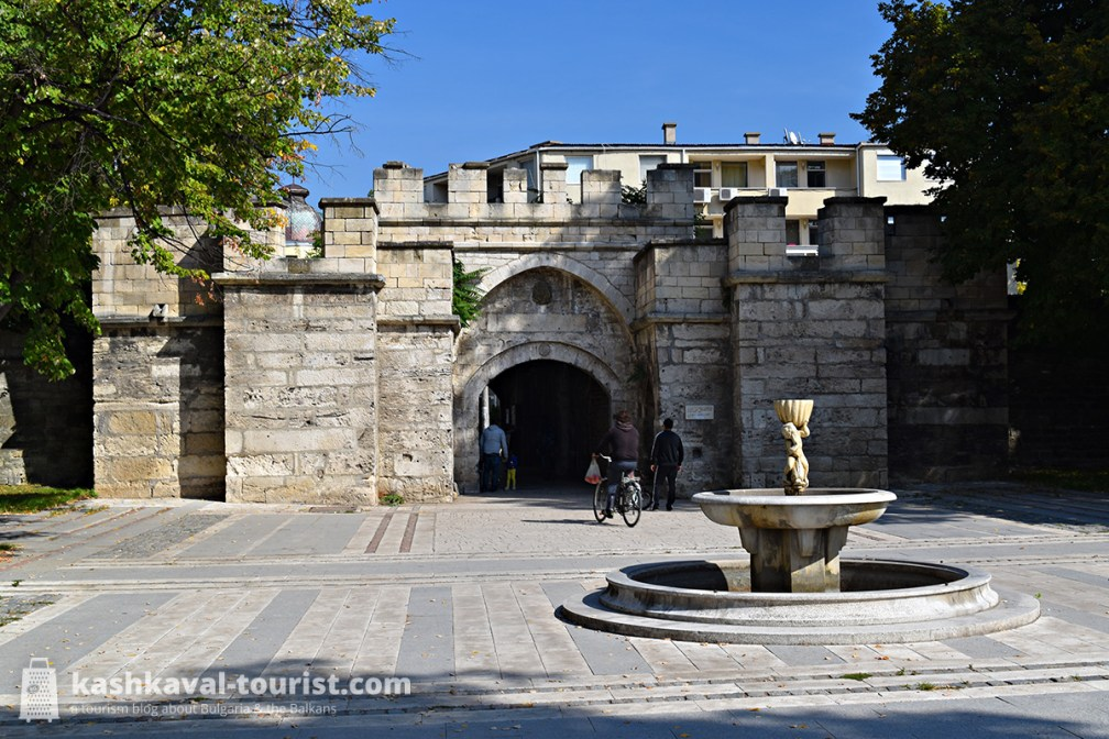 Walk through the Ottoman gates in the formerly walled town centre, Kaleto