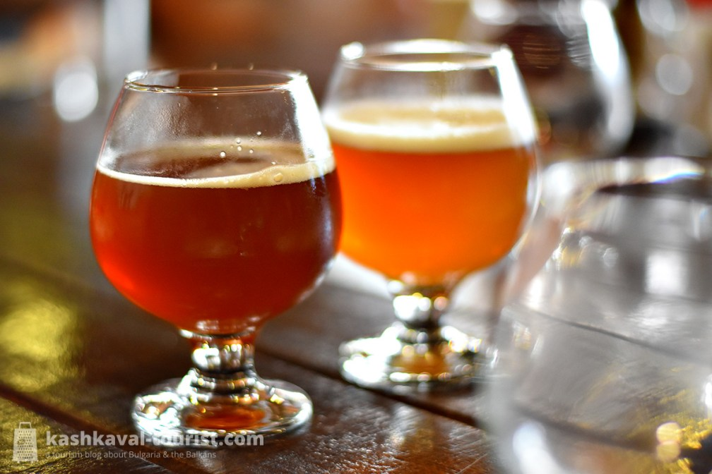 The Tryavna Beer House produces and serves four beer styles that you can sample as part of a tasting menu