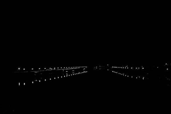 Dimly lit city