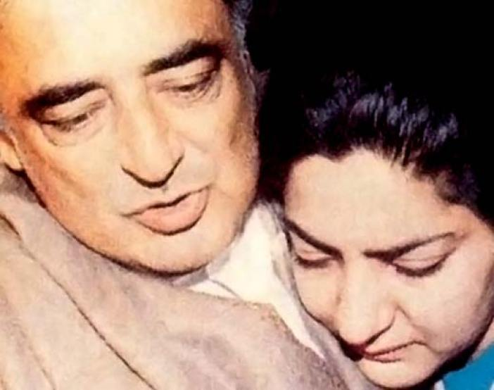 Mufti Syed with his daughter Rubiya Syed.