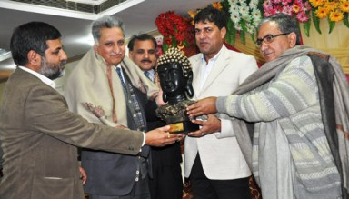 The latest high profile pensioner: Director Agriculture Jammu Mr Ajay Khajuria at a farewell organized on the day of his superannuation