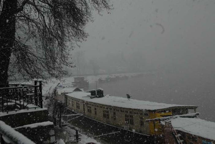 Picturesique vista: A view of Bund in Srinagar