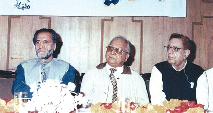 From L to R, Abdul Gani Lone, Ved Bhasin, KD Sethi.