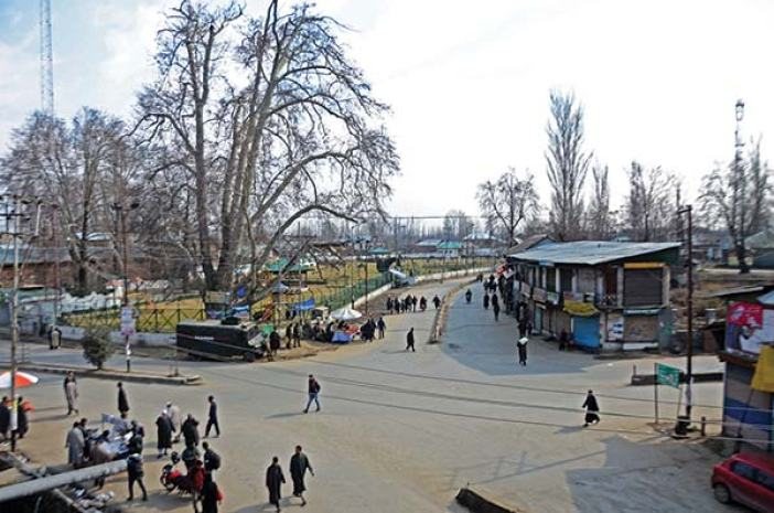 A view of Pulwama square.