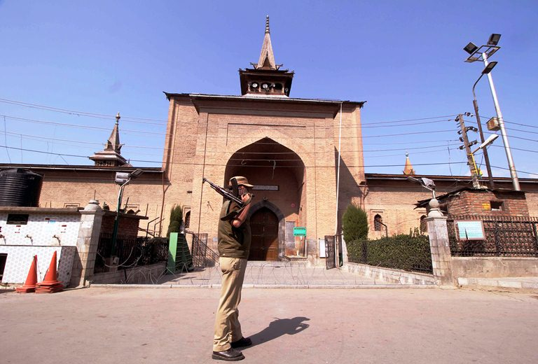 Image result for Juma Prayers Again Barred at Srinagar Jamia Masjid