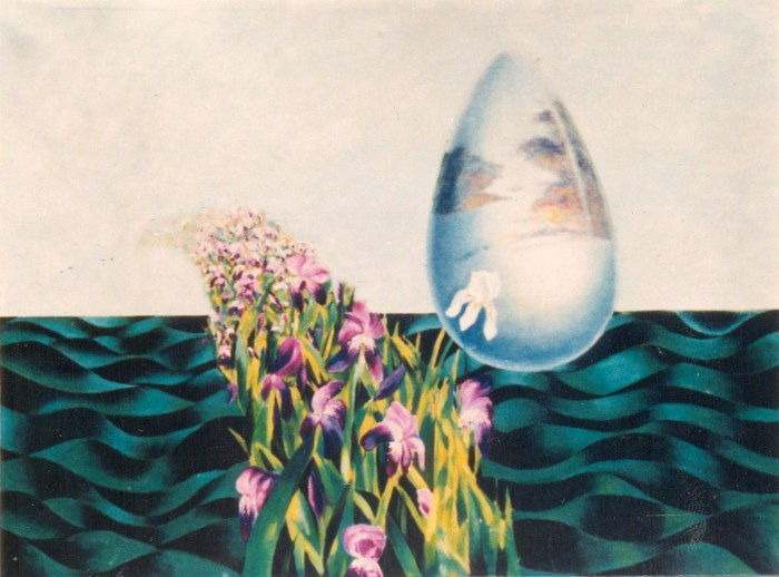 2. Untitled- Shujah Sultan, Oil and acrylic on canvas,1995
