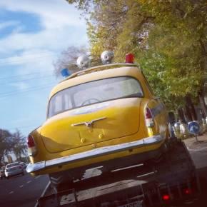 ГАЗ-21 в спецокраске ГАИ СССР