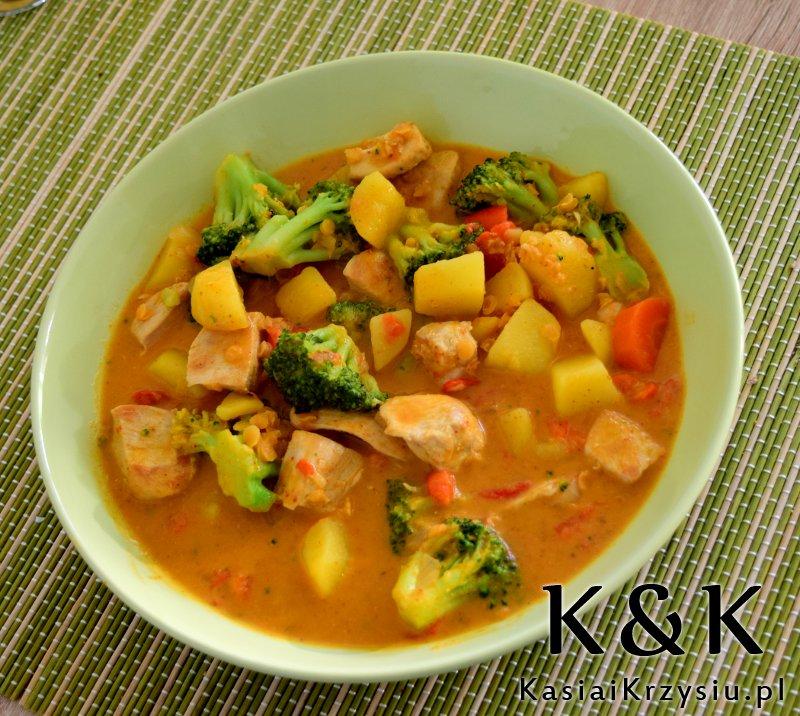 curry z warzywami i kurczakiem