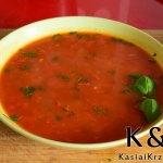 Prosta zupa pomidorowo-paprykowa