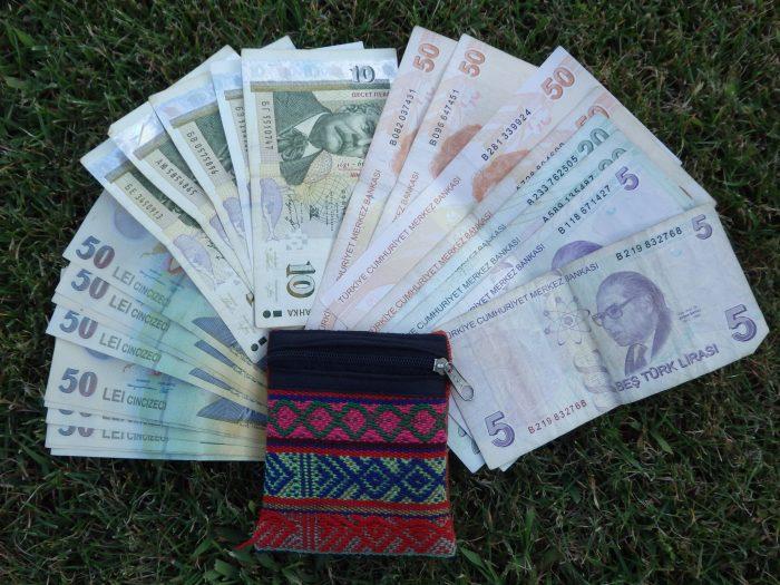 Fałszywy portfel + waluty